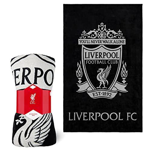 Liverpool F.C. Fleece Blanket, Soft Bed Throws, Sofa Blanket Throw, Liverpool FC Gifts for Men Teens Kids