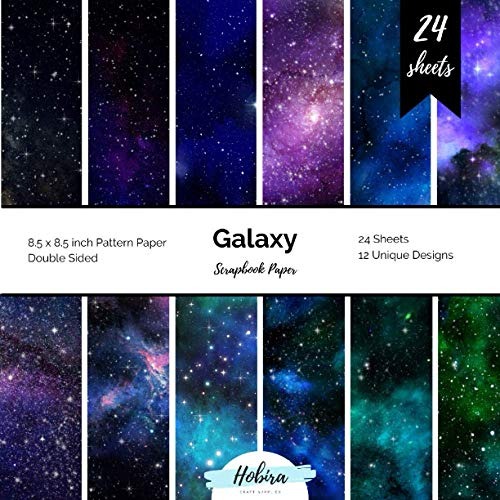 Galaxy Scrapbook Paper: Pattern Paper Double Sided Craft Paper for Card Making, Origami, Art Craft Projects and Scrapbook Journal 24 Paper Craft Sheets