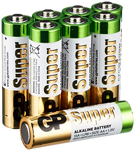 GP GP15A-2VS16 LR6 Super Alkaline AA Mignon Batterie (16-er Pack)