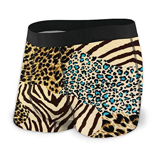 Calzoncillos tipo bóxer para hombre, diseño de cebra y leopardo, de secado rápido