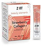 Marine Collagen Peptides Powder Drink Mix (Strawberry): Flavored Collagen Protein + Glucosamine, Hyaluronic Acid, Vitamin C, Acai Extract (30 5g Packets)