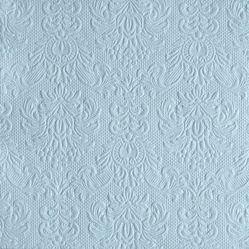 Ambiente Servetten Lunch/Party 33x33cm Elegance Pale Blue - Bruiloft - Doop - Reliëf/Embossed - Ideaal als geschenk