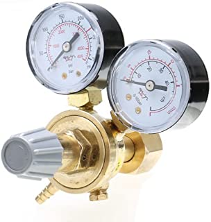 Argon CO2 Pressure Reducer Mig Flow Control Valve Dual Gauge Welding Regulator