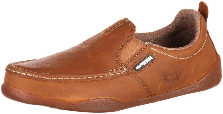 Georgia Boot Outdoor Mens Moc Toe Slip On Leather 14 M Tan G050