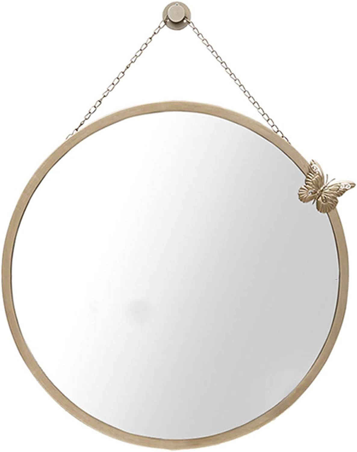 Wall Mirror,Decorative Mirror,Hanging Mirror,Exquisite Appearance,Clear Imaging,Suitable for Vanity,Bathroom,Bedroom,Gym,Hallway(50x50cm),gold