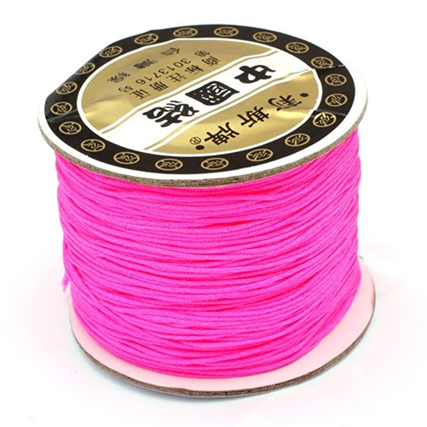 GEM-inside 0.8mm120 Meters Nylon Handcraft Braid Rattail Cord Chinese Knotting Thread For DIY Bracelet Jwelry Making