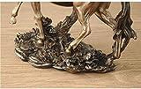 Escultura,Escultura De Resina De Bronce Caballo De Cobre Fundido En Frío Estatua Hecha A Mano Sala De Estar En Casa Gabinete De Vino Decoración De Oficina Artesanía De Gabinete De Habitación Adorn