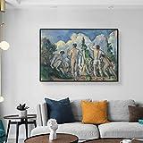 YuanMinglu Bañista año Pintura al óleo sobre Lienzo Arte de la Pared Arte clásico Carteles e Impresiones Vintage Retro Familia decoración de la Pared Cuadro sin Marco Pintura 50x75 cm