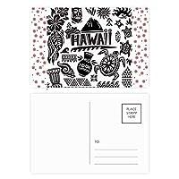 ハワイ諸島のシルエットアメリカ を祝う クリスマスの花葉書を20枚祝福する