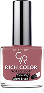 Rich Color Nail Lacquer By Golden Rose, Color Brown No141, Skinny Coral Pink 29