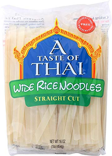 Taste Of Thai Noodle Rice gluten free Extra wide, 16 oz
