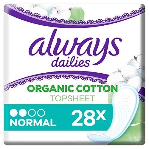 Always Dailies Singles To Go Fraîcheur Flexible, Pack de 28 Protège-Slips Flexible/Confortable