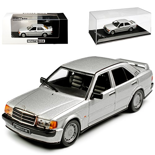 Whitebox Mercedes-Benz C-Klasse 190E W201 2.3-16V Silber 1982-1993 1/43 Modell Auto