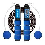 multifun Springseil mit Zähler, Speed Rope Einstellbar Fitness Skipping Rope mit Profi Kugellager & Anti-Rutsch Griffe Springschnur für Kalorienverbrauch ideale Jump Rope für Zuhause Crossfit&Training
