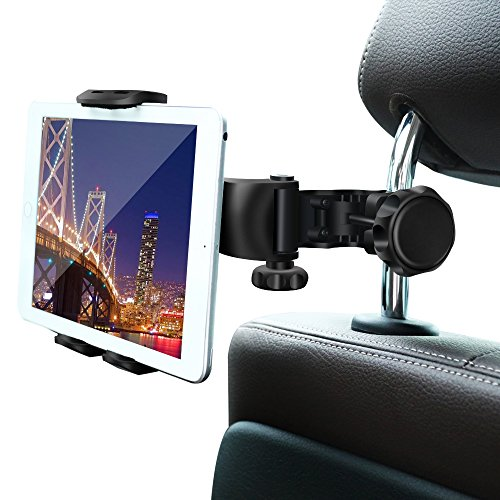 Car Headrest Mount, Ansteker Car Headrest Tablet Holder for iPad Pro/Air/Mini,Kindle Fire HD,Nintendo Switch,iPhone&Other Smartphones Stand Cradle Bracket Holder for 4''-9''with 360° Angle-Adjustable