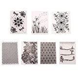 7 Styles Flower Pattern Plastic Embossing Folder Template for Gift Scrapbooking Photo Album Card Paper Craft Making Decor Mold, DIY Embossing Folders Stencil Decorating Mould Tools