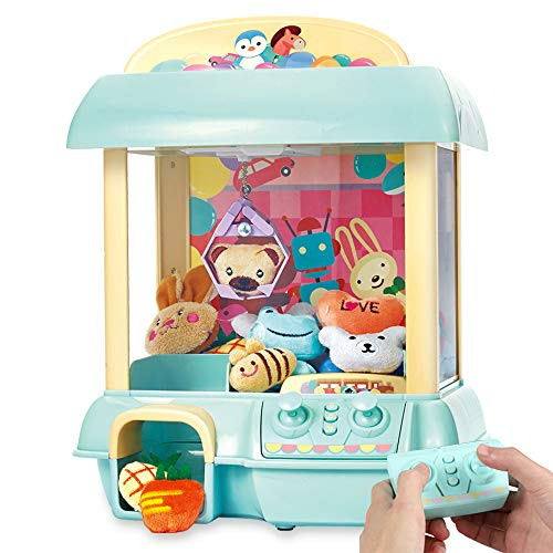YIPING Claw Machine,C1 Claw Toy,2.4G Remote Control Automatic or Manual Dual Mode Mini Claw Machine, Intelligent System with Music and Lighting, Giving Childrens The Best Gift (Blue)