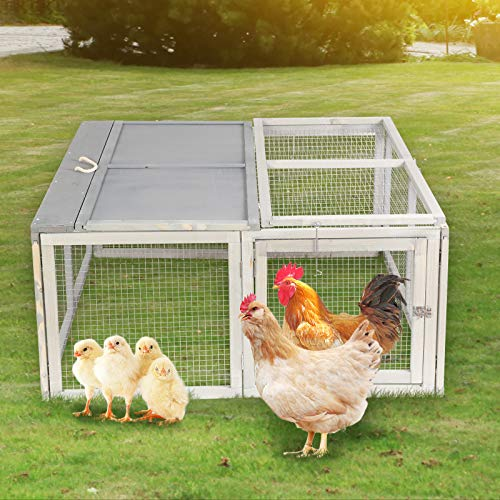 Magshion Spacious Wooden Chicken Coop Bunny Rabbit Hutch Pet Hutch Playpen House (Style 06)