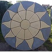Stone Concrete Aztec Sun Circle Patio Paving Set 1.8 Meters (DELIVERY EXCEPTIONS)