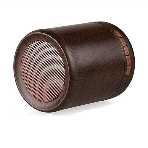 Kaper Go Reise-Strand-hölzerne tragbare drahtlose Bluetooth-Sprecher-Minisubwoofer-Ausgangsgeschenk-Dekoration (Color : Brown)