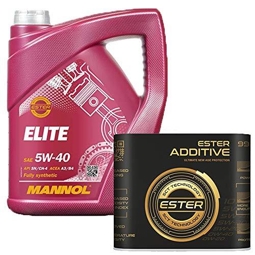5 Liter, MANNOL 7902 Elite 5W-40 229.5 inkl 9929 Motoröladditiv