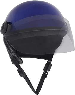Sage Square Scooty Half Helmet for Men, Women (Blue Glossy, Large)