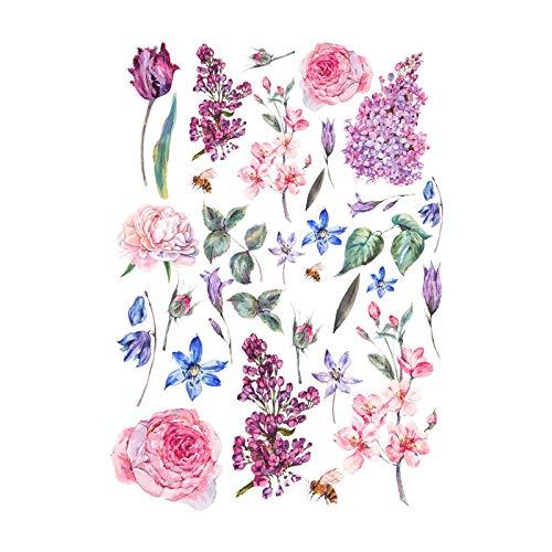 Cadence Papel de Arroz Flores Sueltas 30x41cm Ref.632