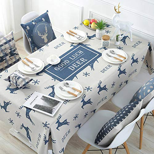 LIUJIU Mantel de encaje blanco bordado mantel mantel cubierta hueco decoración rectángulo, 140x140cm