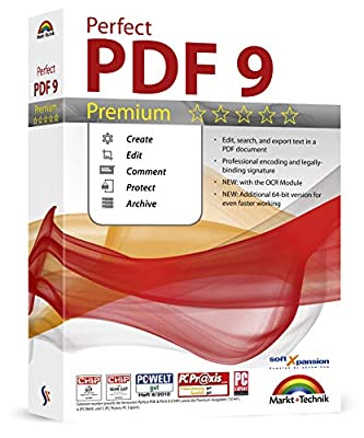 Perfect PDF 9 Editing Software Compatible with Adobe Acrobat - Create, Edit, Convert, Protect, Add Comments, Insert Digital Signatures, OCR Recognition