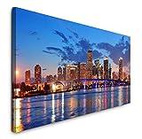 Paul Sinus Art GmbH Miami Skyline 120x 50cm Panorama