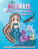 Mermaid Activity Book For Kids Ages 7-9 | Coloring & Drawing, Word Search, Mazes, Sudokus: A Fantasy Hair Monofin Tails Magical Mermaid Workbook ... Of Preschool & Kindergarten Or Homeschool