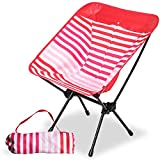 Camping World Portable Compact Ultralight Camping Folding Chairs with Aluminum Frame for Outdoor, Camping,...