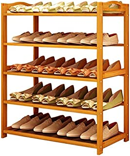 Sterling Wooden Shoe Racks for Home, Bamboo Shoes Stand Multipurpose Book Shelf Cloth Organizer Wooden Rack 5 Layer Shoe Rack