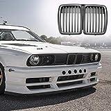 JNXZHQC 1pc Front Kidney Mattschwarz Grill Grill Styling Zubehör.Für BMW E30 318 320 325 1982 1994 Auto Frontstoßstangengrill Neu