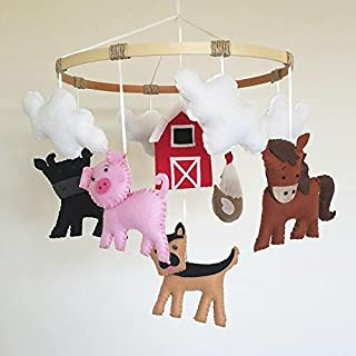 Farm Animal Baby Mobile