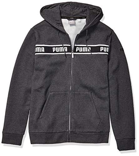 PUMA Herren Amplified Hooded Jacket Fleecejacke, Dunkelgrau-Dark Grey Heather, Mittel
