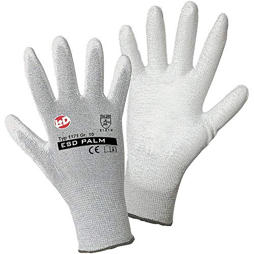 L+D worky ESD Nylon/Carbon-PU 1171 Nylon Arbeitshandschuh Größe (Handschuhe): 10, XL EN 388:2016 CAT II 1 Paar