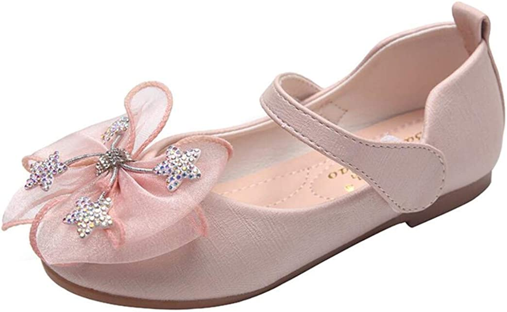 JGKDTX Little Girl Adorable Mary Jane Dress Shoes with Bow, Princess Ballerina Ballet Flats for Girl Party Wedding School Shoe