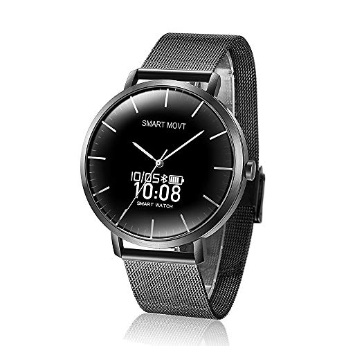 Hybrid Smart Watch,Double Touch and Digital Display,Heart Rate Monitor Fitness Watch Activity Tracker,Pedometer with Sleep Monitor Call SMS SNS Notice for Men Women (Black)
