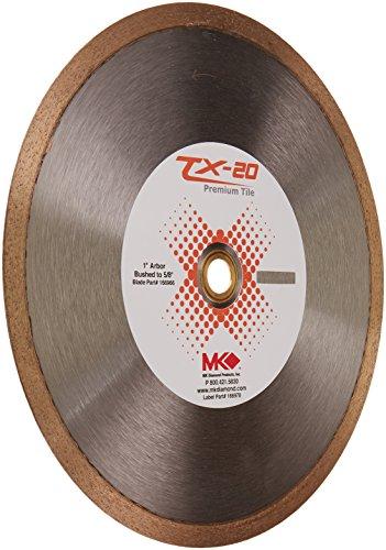 "MK Diamond 166966 TX - 20 Ceramic Tile Blade, 10"" X .060"" X 1"""