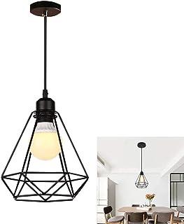 Chao Zan Abat-Jour pour Suspension E27,Lampe Suspension en Métal, Rétro Industrielle Lustre Plafonnier Eclairage de Plafon...