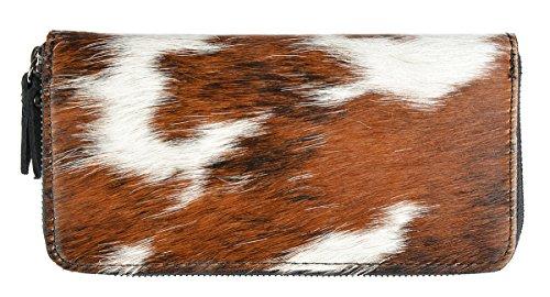 Moderne Damen Geldtasche Kuhfellbörse Herz Trachtenartikel zur Tracht Geldbörse für Frauen Geldbeutel Münzbörse