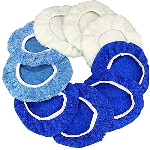9pcs 9-10 Inch Polishing Waxing Pads Clean Buffing For Car Furniture Polishing Waxing Polisher Woodworking Grinding Tool