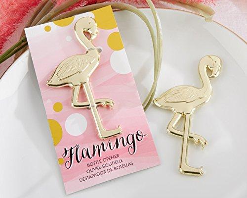 Set di 12 apribottiglie, apribottiglie 'flamenco' tropicale, in sacchetto + cartone regalo, apribottiglie per regali e ricordi di matrimonio, per uomo e donna originali ed economici