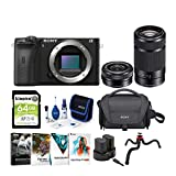 Sony Alpha a6600 APS-C Mirrorless ILC Bundle with 16-50mm & 55-210mm Lenses (9 Items)
