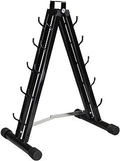 ダンベルラック家庭用純鉄ポータブルダンベルラックジムダンバーベルモバイルラック5ペアのダンベルをホームジムブラックに配置できます。