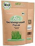 veganflow® 250g Gerstengrassaft Pulver Bio, 100% Gerstengras-Saft Pulver, frei von Zusätzen, für Smoothies und Säfte