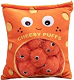 Cheesy Puffs Plush Toy, Stuffed Soft Pillow Plush Puff Toy, Cute & Soft, Fresh Color - Ideal for Kids and Adults (6-Balls)