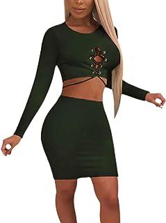 d08809fa4571 Ropa Casual Mujer Primavera Otoño Color Sólido Paquete De Cadera Chandal  Dos Piezas Tops Faldas +