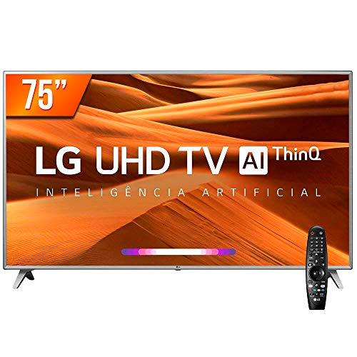 Smart TV LED PRO 75'' Ultra HD 4K LG 75UM751C0SB.AWZ 4 HDMI 2 USB Wi-Fi Conversor Digital